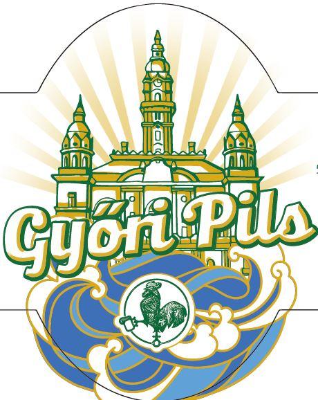 Győri Pils címke grafika